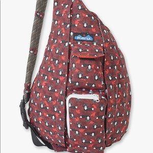 KAVU Original Rope Bag Raccoon Crossbody Sling